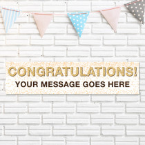 Congrats Glitter - Personalised Banner
