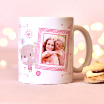 Personalised Cute Bobbin Valley Photo Mug