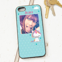 Dream Believe Unicorn With Photo Upload - iPhone 5 Case