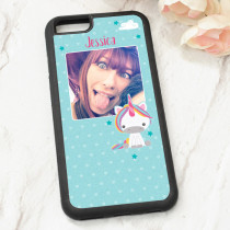 Dream Believe Unicorn With Photo Upload - iPhone 6 Case