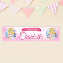 Official Personalised Disney Princess Cinderella Birthday Banner