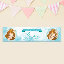Official Personalised Beauty and the Beast Belle Birthday Banner