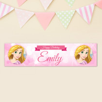 Official Personalised Disney Princess Rapunzel Birthay Banner