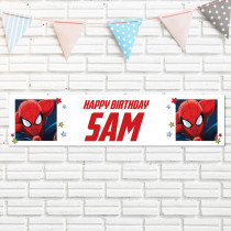 Official Personalised Marvel Spiderman Banner