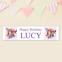 Official Personalised Disney Sofia the First Birthday Banner