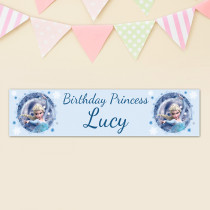 Offical Disney Frozen Elsa Personalised Banner