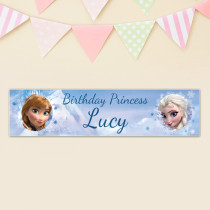 Disney Frozen Elsa And Anna - Personalised Banner