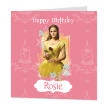 Beauty And The Beast Belle - Luxury Greeting Card