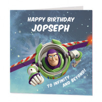 Disney Pixar Toy Story Buzz To Infinity - Luxury Greeting Card