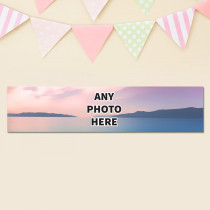 Easy landscape One Photo - Personalised Banner