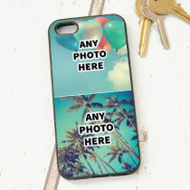 Easy Photo Upload - 2 Photos and Optional Text - iPhone 5 Case