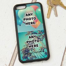 Easy Photo Upload - 2 Photos and Optional Text - iPhone 6 Case