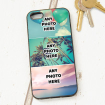 Easy Photo Upload - 3 Photos and Optional Text - iPhone 5 Case
