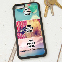 Easy Photo Upload - 3 Photos and Optional Text - iPhone 6 Case