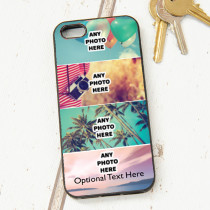 Easy Photo Upload - 4 Photos and Optional Text - iPhone 5 Case