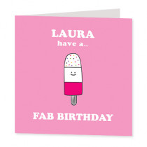 Fab Lolly - Luxury Greeting Card