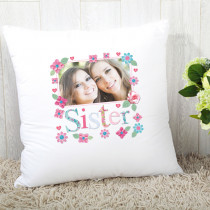 Personalised Fabrique Sister Photo Cushion