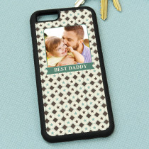 Green And Cream Checked Pattern - iPhone 6 Case