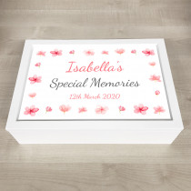 Personalised Keepsake Memory stylish floral theme
