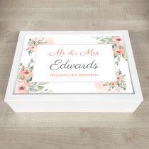 Personalised Keepsake Memory Box stylish floral theme