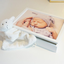 Photo upload personalised Keepsake Memory Box