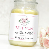 Personalised Pink Best In The World Label