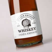 Personalised Grey Whiskey Label