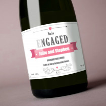 Personalised Pink Engagement Label