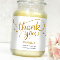 Personalised Gold Thank You - Label