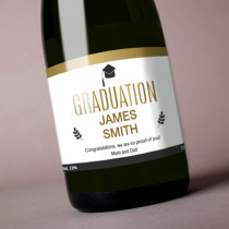 Personalised Gold Graduation - Label