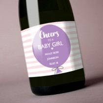 Personalised Pink New Baby Girl - Label