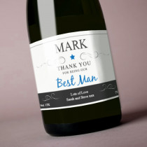 Personalised Blue Best Man Label