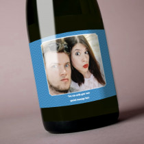 Personalised Blue Photo Label