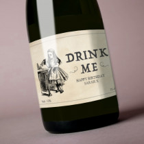 Personalised Alice Drink Me Label
