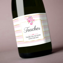 Teacher Floral - Label