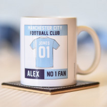 Personalised Manchester City Football Club Mug