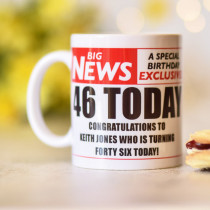 Personalised Newspaper Headline Photo Mug