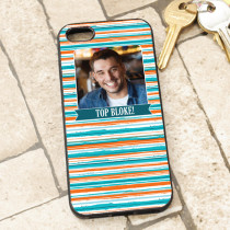 Orange Blue Stripe Pattern - iPhone 5 Case
