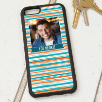Orange Blue Stripe Pattern - iPhone 6 Case