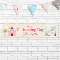 Pink Church With Photo Upload - Personalised Banner