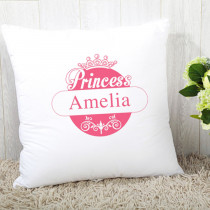 Personalised Pink Princess Cushion