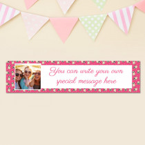 Personalised Pug Pattern Photo Banner