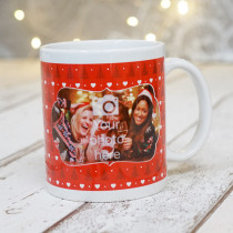 Red Christmas Trees with Photo Upload - Mug