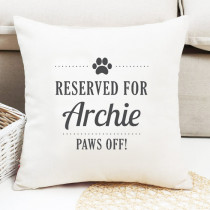 Personalised Reserved For Pet Cushion