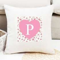 Personalised Rose Pattern Initial Cushion
