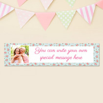 Personalised Rose Pattern Photo Banner