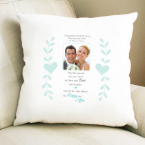 Personalised Sentimental Happy Ever After Photo Cushion