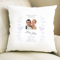 Personalised Sentimental Mr And Mrs Photo Cushion