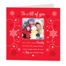 Sentiments All Of You Christmas with Photo Upload - Luxury Greeting Card