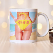 Personalised Sexy Woman Bikini Mug